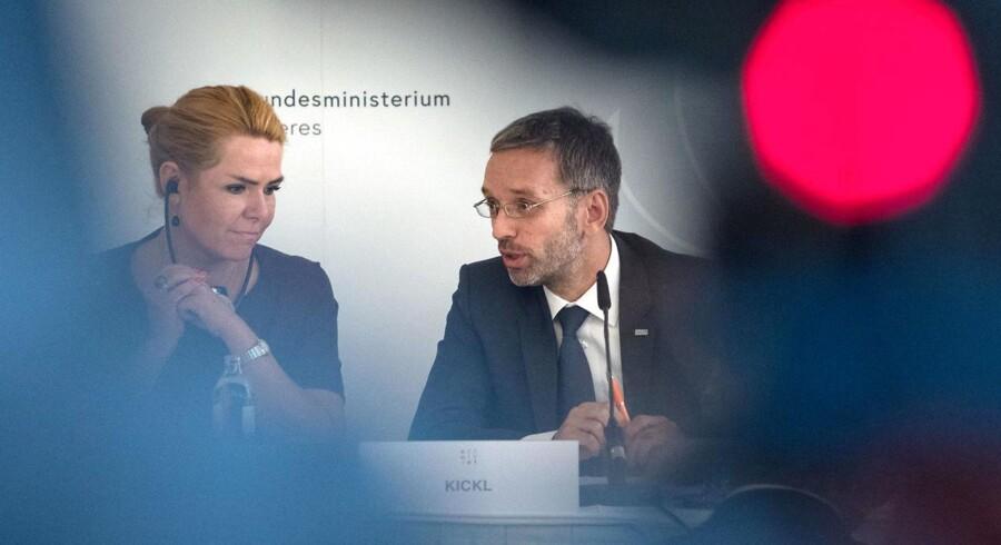 Inger Støjberg, udlændinge- og integrationsminister, og hendes østrigske kollega, indenrigsminister Herbert Kickl, fremlagde torsdag en fælles vision for et bedre europæisk asylsystem.