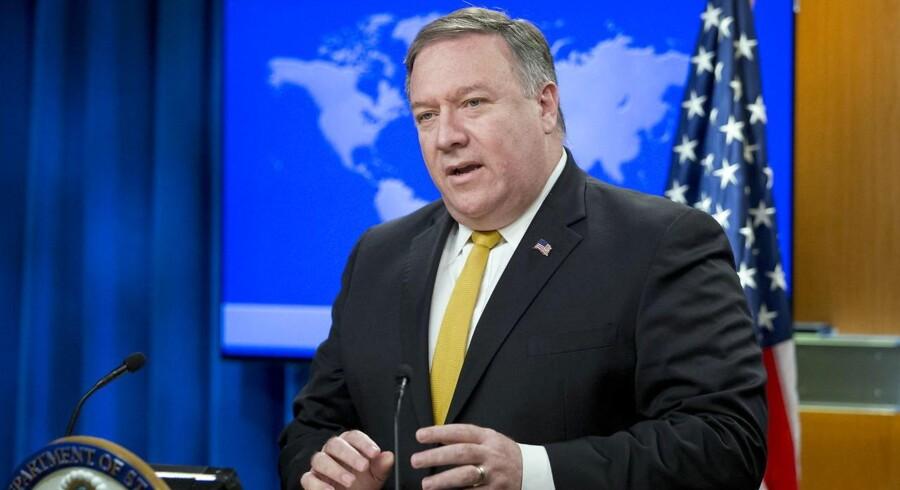USAs udenrigsminister Mike Pompeo sender et stærkt signal forud for weekendens besøg i Nordkorea.