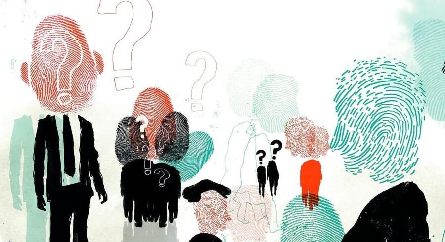 »Vi må i disse år gøre os grundige tanker om, hvad det vil sige at være en enkelt med en ukrænkelig identitet,« skriver Sørine Gotfredsen. Illustration: Rasmus Meisler