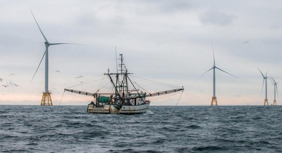 Deepwater Wind, som Ørsted købte mandag morgen, har hovedsæde i staten Rhode Island. Ved kysten her står bl.a. Block Island Wind-vindmølleparken på billedet. Arkivfoto: Deepwater Wind/Reuters/Scanpix