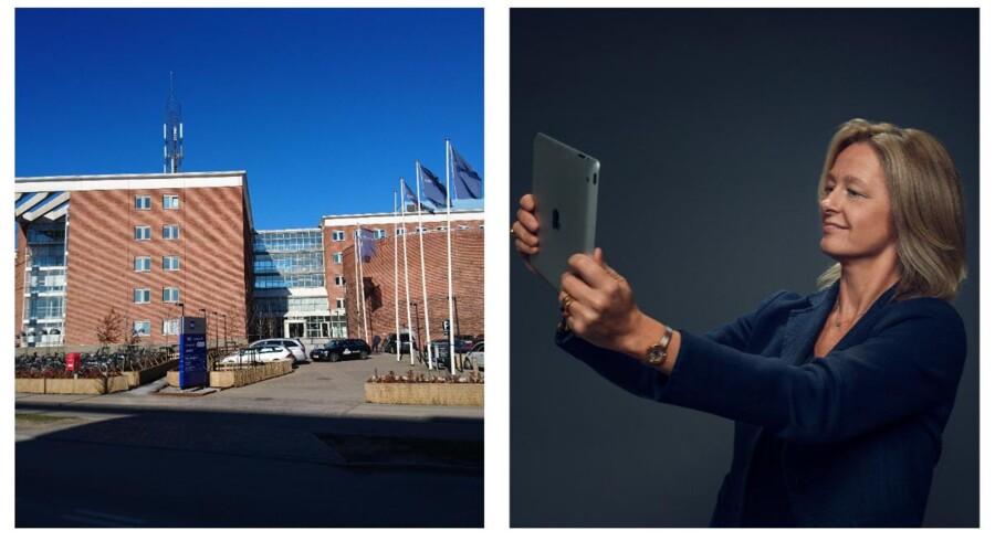 Det bliver den svenske telekoncern Tele2s topchef, Allison Kirkby, der afløser Pernille Erenbjerg som koncernchef for Danmarks største teleselskab, TDC. Fotos: Tele2 og Thomas Breinstrup