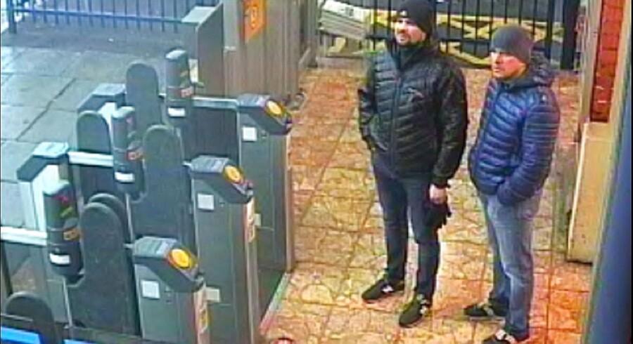2. marts 2018 ankom de to mænd til Salisbury for at slå dobbeltagenten Sergej Skripal ihjel med nervegiften Novitjok. Manden til højre på billedet er nu afsløret som GRU-lægen Aleksandr Misjkin, og manden til venstre er GRU-oberstløjtnant Anatolij Tjepiga.