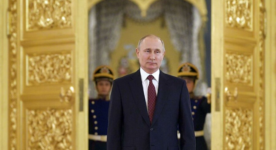 Russian President Vladimir Putin attends a ceremony of receiving credentials from foreign ambassadors in the Kremlin in Moscow, Russia, Wednesday, April 11, 2018. (Alexei Druzhinin, Sputnik, Kremlin Pool Photo via AP)