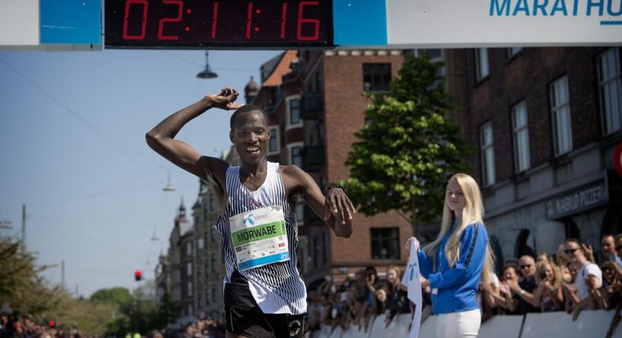 Dagens vinder blev William Morwabe fra Kenya, der forbedrede sidste års løbsrekord. Foto: Nils Meilvang / Ritzau Scanpix