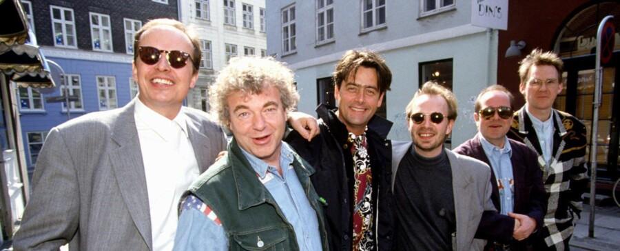 Michael Hardinger til venstre med resten af bandet i august 1993. Nordfoto.