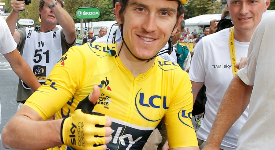 Geraint Thomas vandt Tour de France sammen med Team Sky. Nu er hans trofæ blevet stjålet. Stephane Mahe/Reuters