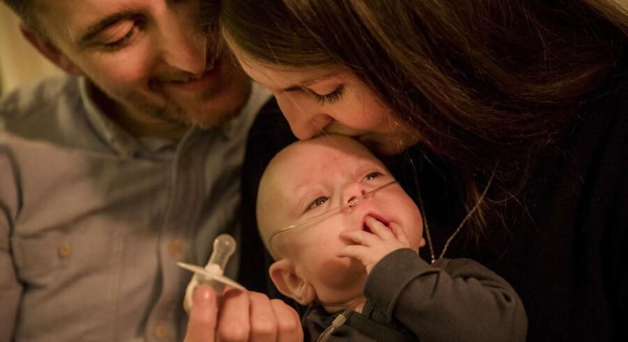 Christina Sanders og Pouls Michelsens søn Marvin kom til verden alt for tidligt i slutningen af juli, da han kun vejede 560 gram. Han skulle være født i starten af november.