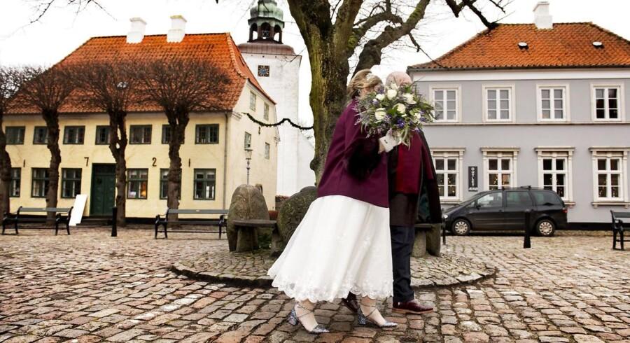 I 2017 blev 4.600 par viet på Ærø. 98 pct. af parrene kommer rejsende fra udlandet for at blive viet.