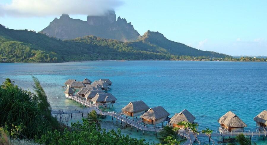 Man kommer ikke meget længere væk hjemmefra end Bora Bora i Fransk Polynesien. Foto: Tensai Buta/Wikimedia