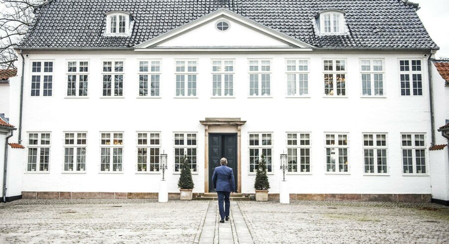 Anders Samuelsen, da han i november 2016 ankom til Marienborg for at indlede forhandlingerne om den nye trekløverregering. Lidt over et år senere stiller flere LAere spørgsmålstegn ved regeringsdeltagelsen.