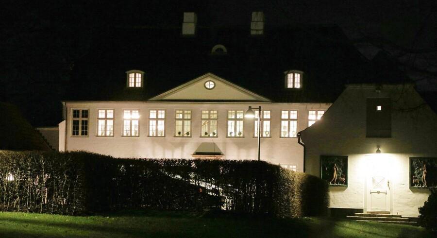 Beslutningen om at aflyse regeringens egen skatteplan blev endegyldigt truffet mandag aften på Marienborg. Arkivfoto