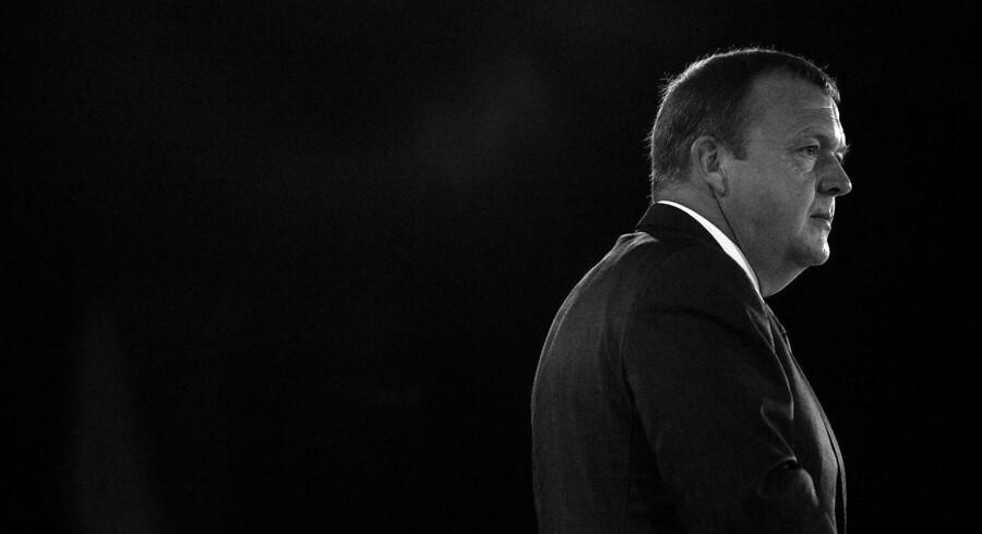 Lars Løkke Rasmussen (V) på scenen ved Venstres landsmøde i oktober 2013. Det var her, han for alvor lancerede sin plan om, at »det skal kunne betale sig at arbejde«.