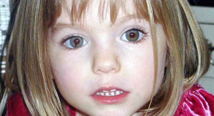 Billedet af den fireårige britiske pige Madeleine McCann gik verden rundt efter hendes mystiske forsvinden i 2007.