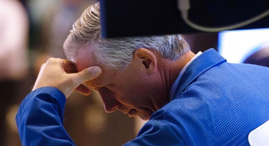Børshandlerne på Wall Street havde onsdag en usædvanlig hård dag.