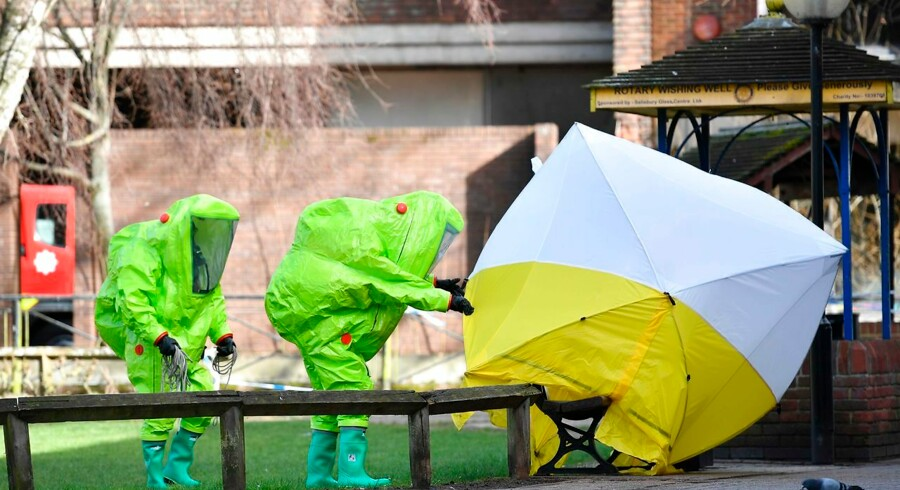 (Arkiv) Et angreb i marts med kemiske våben i Salisbury i England kom som et chok for Europa. Mandag har EU-landene vedtaget en sanktionsordning i forlængelse af episoden.