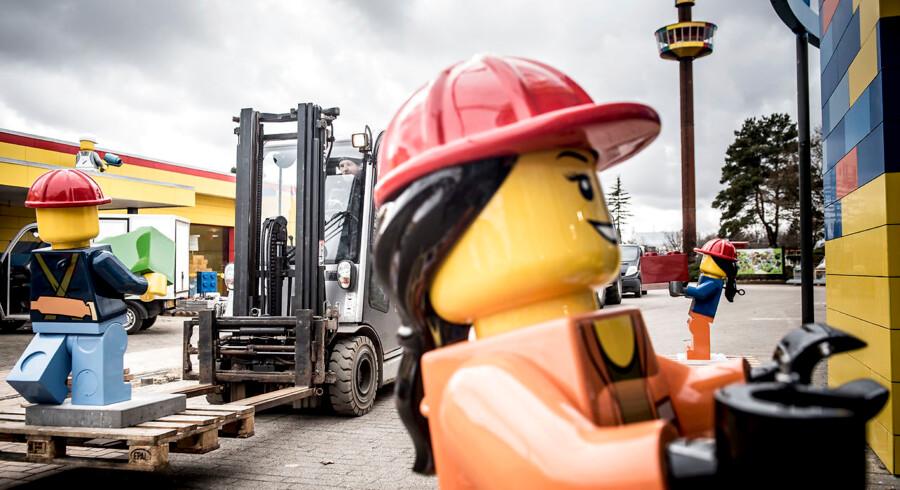 Legoland gøres klar til åbning, onsdag den 21. marts 2018 Legoland i Billund åbner dørene til en ny sæson lørdag den 24. marts 2018.. (Foto: Mads Claus Rasmussen/Scanpix 2018)