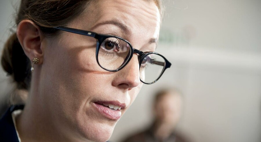 Børne- og socialminister Mai Mercado (K) holder pressemøde i Børne- og Socialministeriet i København, 9. oktober efter mistanken om, at en medarbejder har stjålet 111 mio. kr.