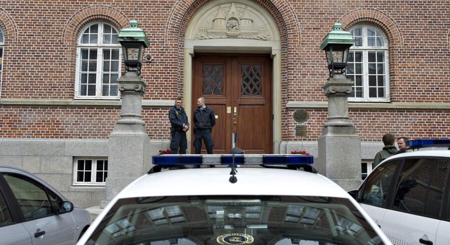 En særlig paragraf om skærpet straf i bandekonflikter er blevet brugt af Retten i Aarhus i en sag tirsdag. En kamphund blev brugt som våben. Henning Bagger/arkiv/Ritzau Scanpix