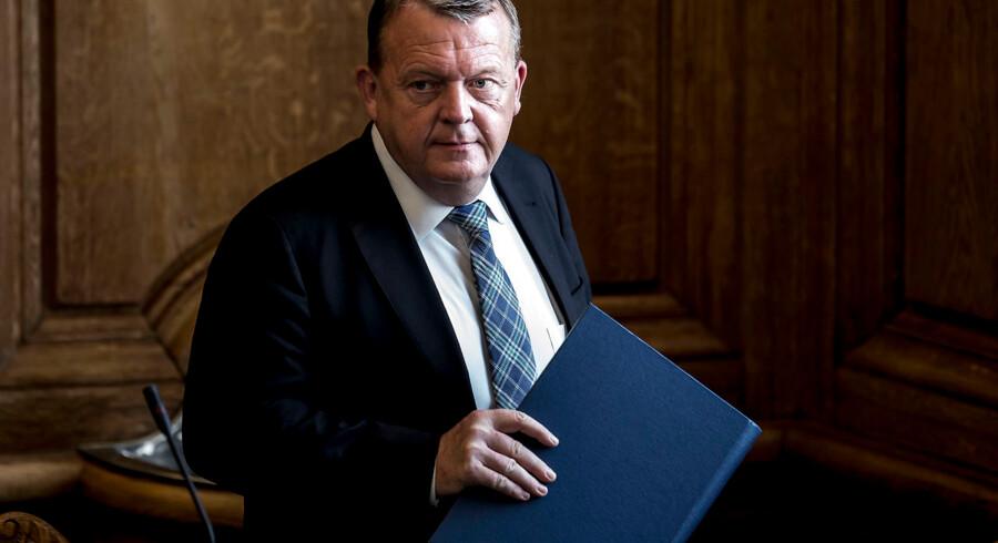Statsminister Lars Løkke Rasmussen (V) i Folketingssalen. (Foto: Mads Claus Rasmussen/Ritzau Scanpix)