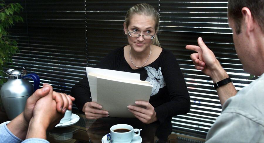 Der har sandsynligvis været flere jobsamtaler i første halvår af 2018 end nogensinde før. I Danmark hænger høj jobomsætning sammen med lav ledighed, da det som regel betyder et højt jobudbud. Det er en af de tilsigtede konsekvenser ved den danske flexicurity-model, som sikrer en balance mellem arbejdsstyrke og arbejdsudbud. Maria Hedegaard/arkiv/Ritzau Scanpix