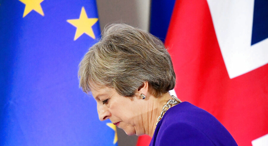 FILE PHOTO: Britain's Prime Minister Theresa May leaves a news conference at the European Union leaders summit in Brussels, Belgium October 18, 2018. REUTERS/Toby Melville/File Photo