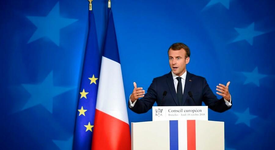 I et opkald til Trump påpeger også Frankrigs præsident vigtigheden af INF-traktaten, som Trump vil forlade.