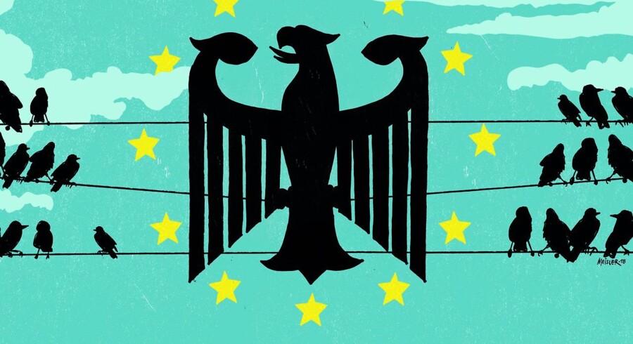 Efter et årti med europæiske kriser er Tysklands magt i EU større end nogensinde før. Tyske topembedsmænd og kommissærer vil forandre det europæiske samarbejde i de kommende år. Bag tyskernes voksende magt gemmer sig en skrøbelig svaghed, vurderer kendere af tysk og europæisk politik.