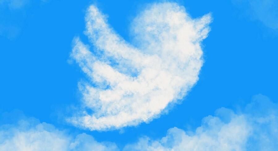 Ni millioner Twitter-brugere er fordampet på tre måneder. Men pengene ruller ind i Twitters kasse alligevel. Arkivfoto: Iris/Scanpix