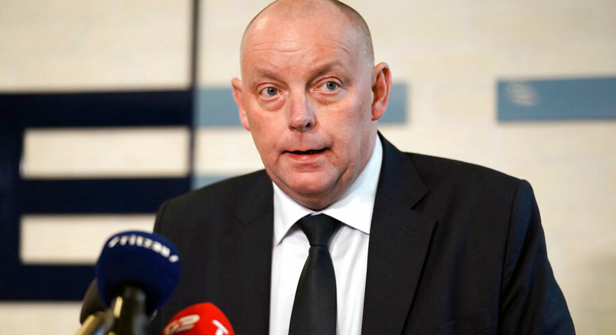 Finn Borch Andersen, chef for PET, ved pressemødet i København tirsdag. Foto: Martin Sylvest/Ritzau Scanpix