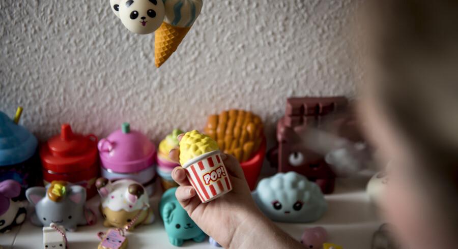I Danmark er der tidligere blevet solgt legetøj som blandt andet squishies, der indeholdt ulovlige kemiske stoffer. Arkiv. Mads Claus Rasmussen/Ritzau Scanpix