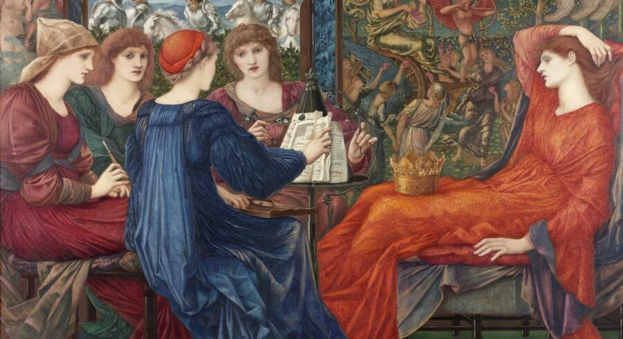Ud over religiøse forestillinger, myterne fra antikken og optagetheden af Middelalderen var Edward Burne-Jones også interesseret i lyrik. Billedet »Laus Veneris«, der er blevet til i årene mellem 1873 og 1878, er således inspireret af et digt af A.G. Swinburne, som nogle år tidligere havde udgivet en samling – dedikeret til Edward Burne-Jones.