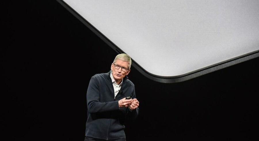 Apple kom sent torsdag med regnskab, der sendte aktien ned mere end 7 pct. Foto: Stephanie Keith / Ritzau Scanpix