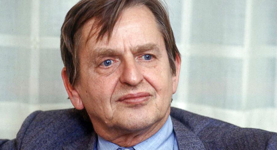 Arkivfoto af den tidligere svenske statsminister Olof Palme i 1984.