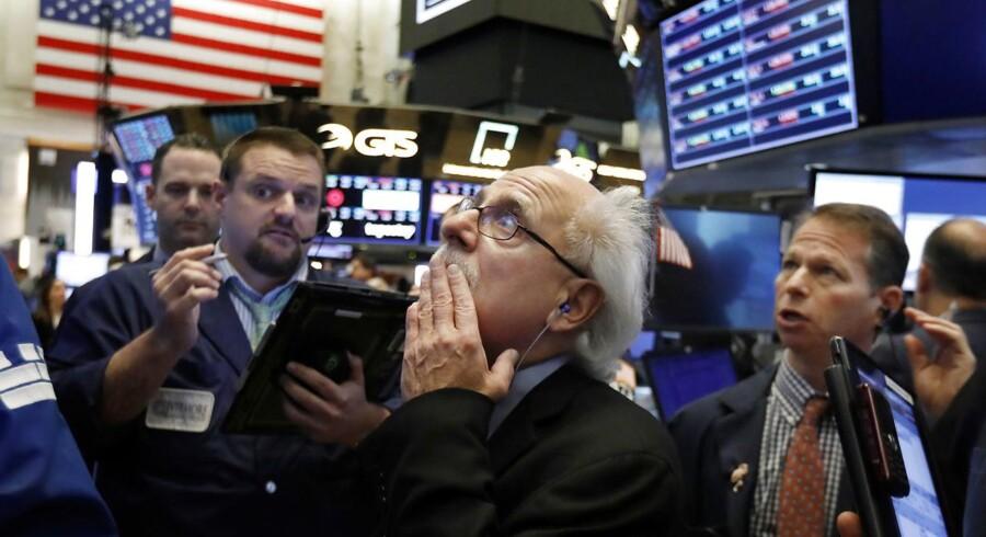 Amerikanske investorer har været nervøse op til midtvejsvalget, og tirsdag er handlelsaktiviten dæmpet. Foto: AP Photo/Richard Drew/Ritzau Scanpix