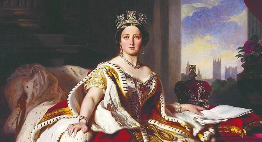 Da Victoria i 1859 fyldte 40 år, stod hun på magtens tinde. Maleriet blev udført af hoffets favoritmaler, Franz Winterhalter, og dronningen var begejstret for det.