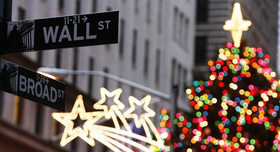 Wall Street står formentligt overfor en spurt op til jul efter midtvejsvalget ikke gav investorerne nogle ubehagelige overraskelser. Foto: Reuters/Lucas Jackson/Ritzau Scanpix