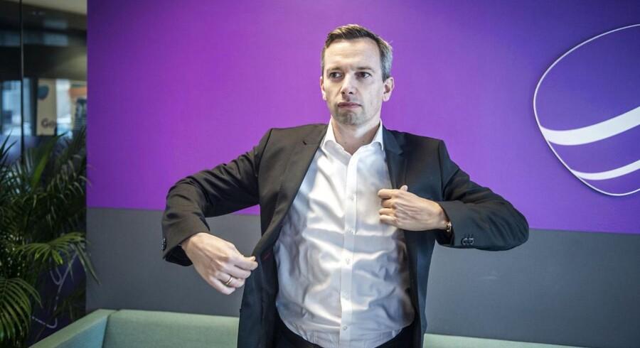 Telias nye erhvervsdirektør, Thomas Kjærsgaard, gør sig klar til at sætte sig tungere på det danske erhvervsmarked, hvor konkurrencen er blevet skarpere end nogen sinde. Foto: Celina Dahl