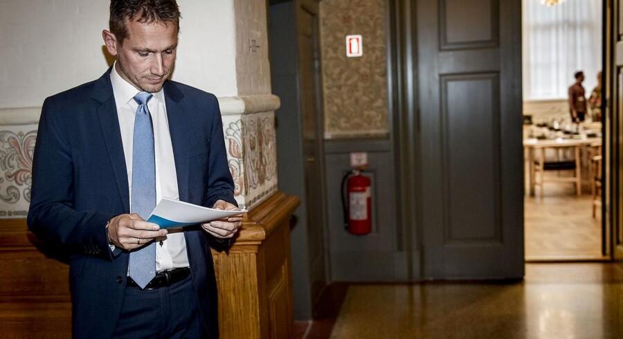 Finansminister Kristian Jensen (V) opfordres til at kulegrave aktiveringsområdet. Danmark har verdens højeste udgifter til aktiv arbejdsmarkedspolitik, og effekten er tvivlsom. Foto: Liselotte Sabroe/Ritzau Scanpix