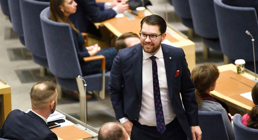 Sverigedemokraternas partileder Jimmie Åkesson (SD)