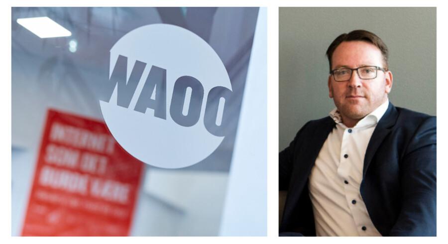 Waoo får masser af nye TV-kunder, og mange vælger den største TV-pakke, hvor streamingtjenesten Viaplay Total er med – også selv om den er dyrere. Administrerende direktør Jørgen Stensgaard forventer også næste år 45.000-50.000 nye kunder. Arkivfotos: Morten Degn, Waoo, og Sofie Matthiasen