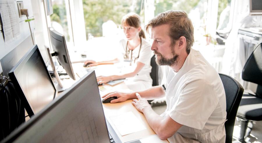 Sundhedspersonale, der kritiserer Sundhedsplatformen, bliver udsat for trusler. Arkivfoto: Asger Ladefoged/Ritzau Scanpix