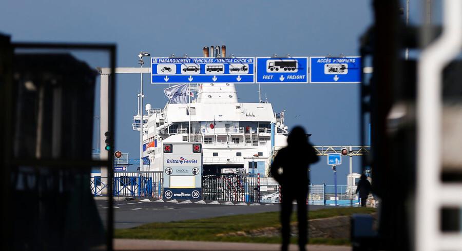 Arkivfoto. Den franske havneby Calais, hvor det, der førhen blev beskrevet som »junglen«, lå, er stedet hvorfra trafikken mod Storbritannien starter.