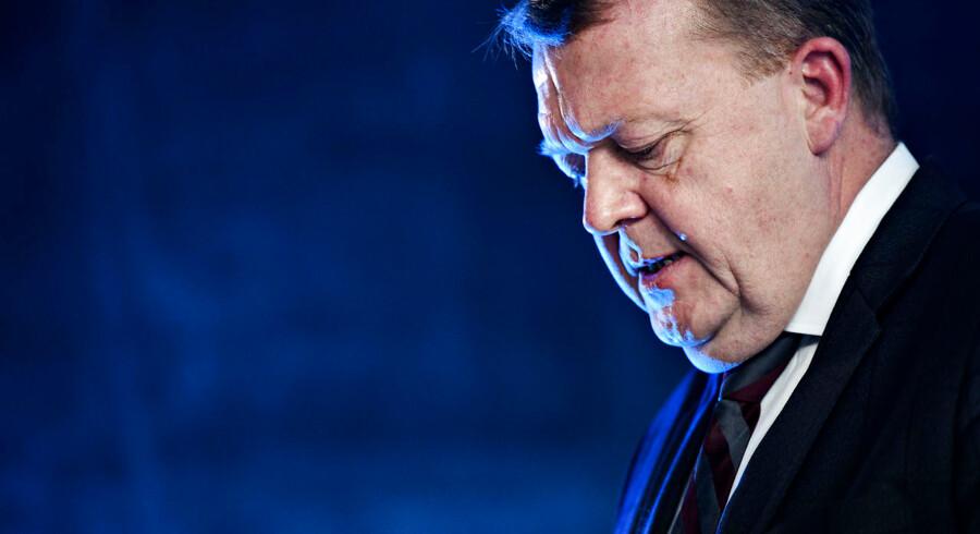Statsminister Lars Løkke Rasmussen (V) da Venstre, forud for weekendens landsmøde, giver en baggrundsbriefing for pressen i Blox i København onsdag den 14. november 2018. Foto: Philip Davali/Ritzau Scanpix