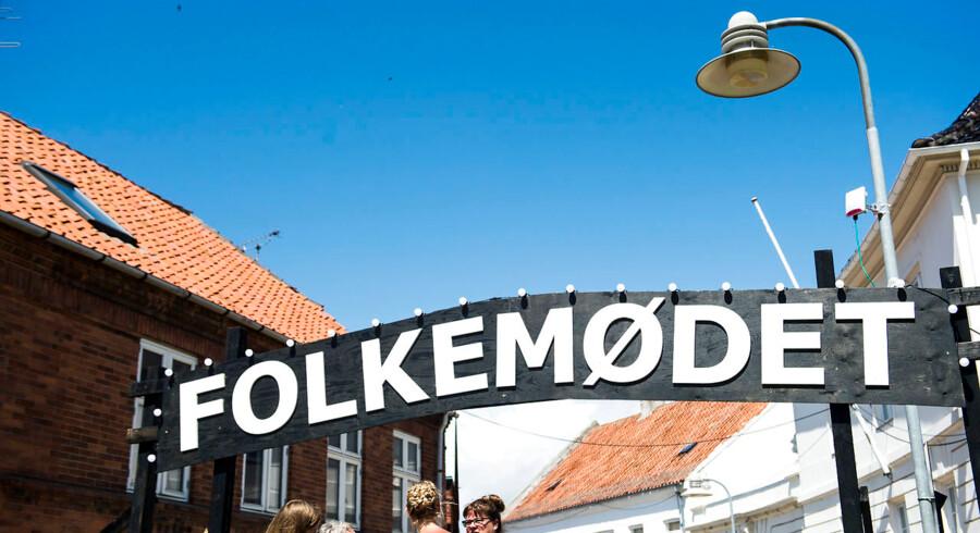 Folkemødet på Bornholm er ved at udånde under kommercialiseringens kvælertag. Foto: Ida Marie Odgaard/Ritzau Scanpix