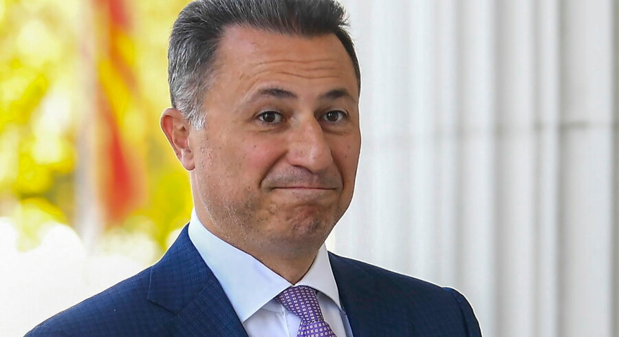 epa07161429 (FILE) - FYR of Macedonia ex-prime minister Nikola Gruevski arrives in the court in Skopje, The Former Yugoslav Republic of Macedonia on 05 October 2018 (reissued on 12 November 2018). According to reports, the Macedonian police has issued an arrest warrant for former prime minister Nikola Gruevski after he failed to report to jail to serve a prison sentence of two years for misusing the official position. The Skopje Court of Appeal in October has confirmed a two-year prison term for the ex- prime minister, for abuse in the procurement of the bulletproof Mercedes of 600, 000 euros. EPA/GEORGI LICOVSKI *** Local Caption *** 54678598