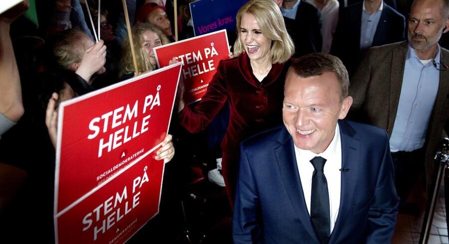 »Det pres, der er på statsministeren og oppositionslederen, er helt ubegribelig hårdt.« Det siger politisk kommentator Noa Redington, der var tidl. statsminister og S-formand Helle Thorning-Schmidts nærmeste rådgiver under to folketingsvalgkampe. Her ses Helle Thorning-Schmidt og Lars Løkke Rasmussen (V) under folketingsvalget i 2015.