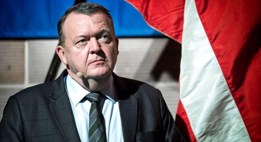 Statsminister Lars Løkke Rasmussen får baghjul af sin modkandidat Mette Frederiksen i en ny måling, som Gallup har lavet over vælgernes tiltro til 11 partiledere på udvalgte politikområder. Her er Lars Løkke til Venstres Landsmøde sidste weekend.