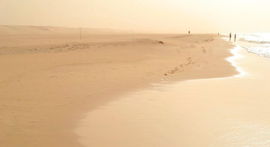 Takket være ørkenstormen fra Sahara er Boa Vista blevet pakket ind i et gyldent skær.