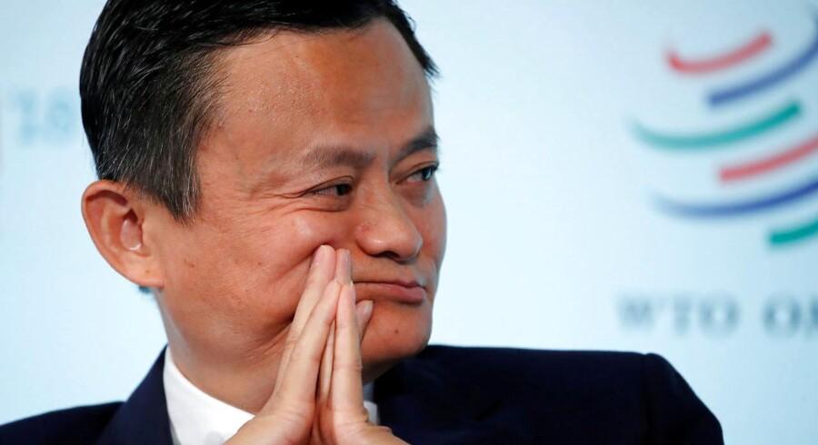 Han er Kinas rigeste mand og topchef for et af verdens mest værdifulde selskaber. Nu er Jack Ma også officielt medlem af det kinesiske kommunistparti. Arkivfoto: Denis Balibouse, Reuters/Scanpix