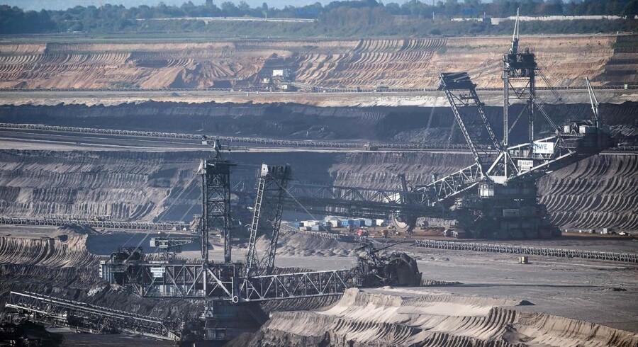 Brunkul udgraves af minen Tagebau Garzweiler i det vestlige Tyskland.